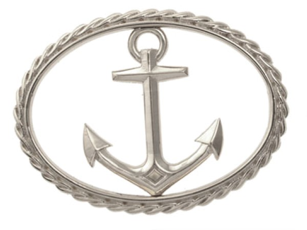 Anchor Swap Top with rope oval, Sterling silver for swap top bangle